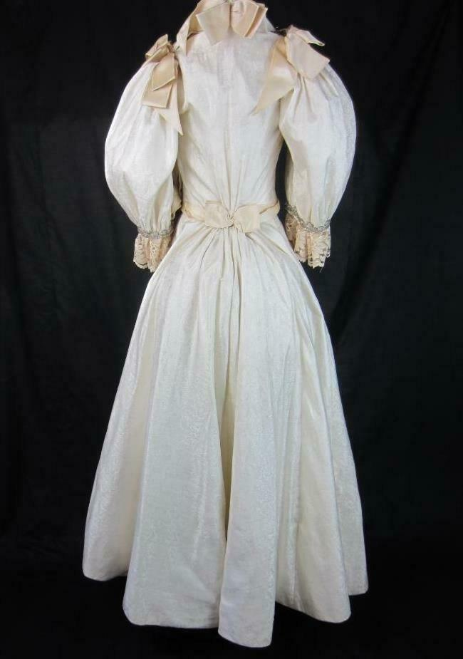 1895 Wedding Gown Victorian True Antique Dress - … - image 6