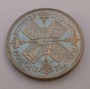 Scarce-Original-1927-Florin-Coin-Silver-Proof