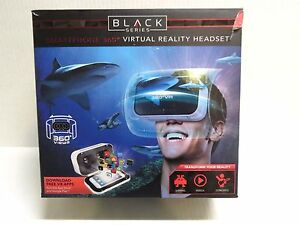 Details about Virtual Reality Headset Black Series Smartphone 360 Degree  Download Free Apps