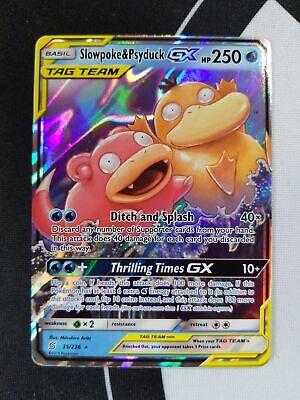 Ultra Rare Pokemon Card Slowpoke /& Psyduck GX 35//236 Unified Minds Mint