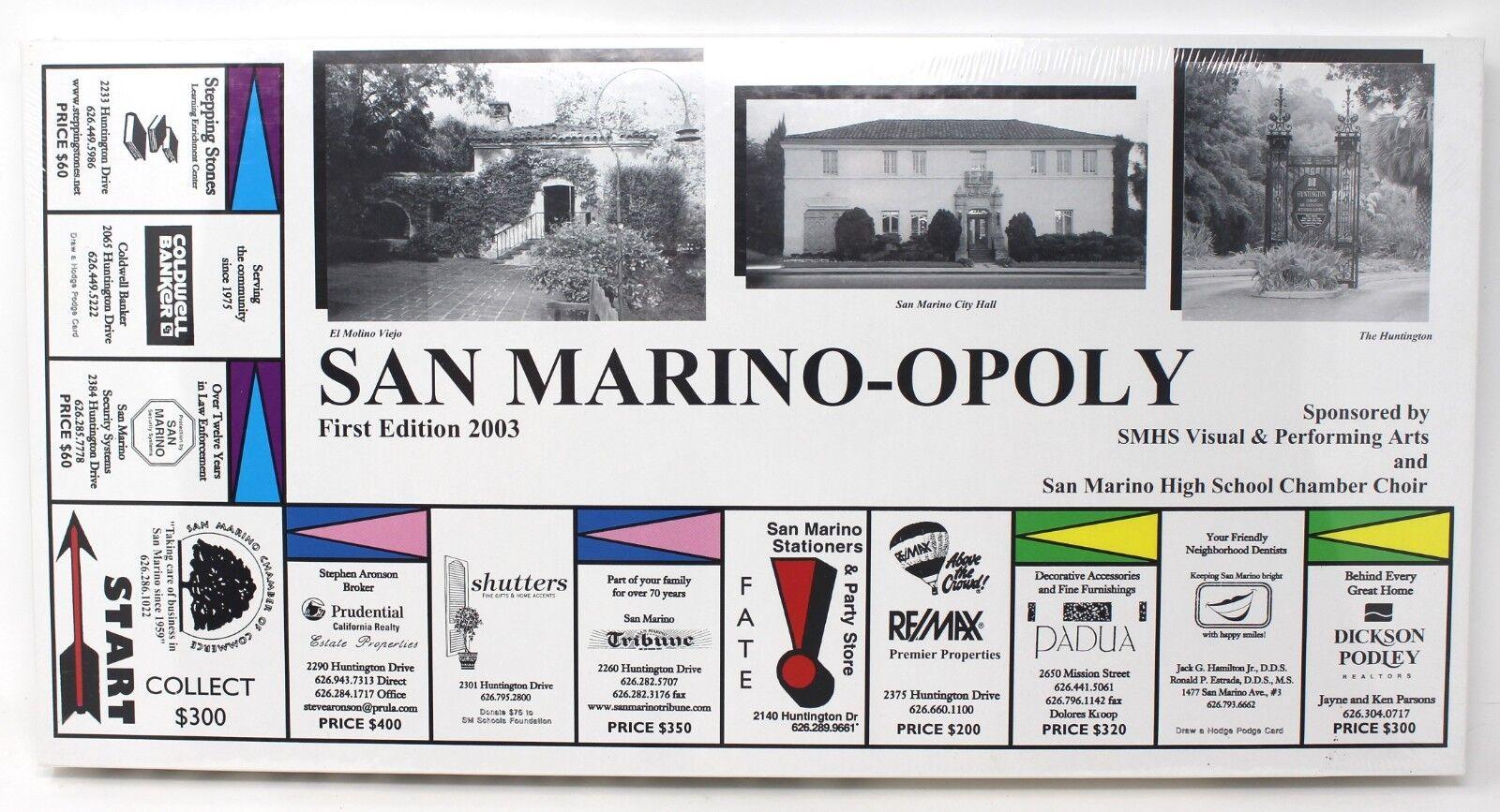 San marino opoly monopol stil brettspiel huntington san marino kalifornien neue