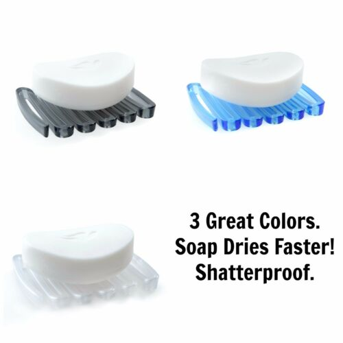 Frost or Blue Plastic Soap Saver for Shower Stalls /& Tub Gray
