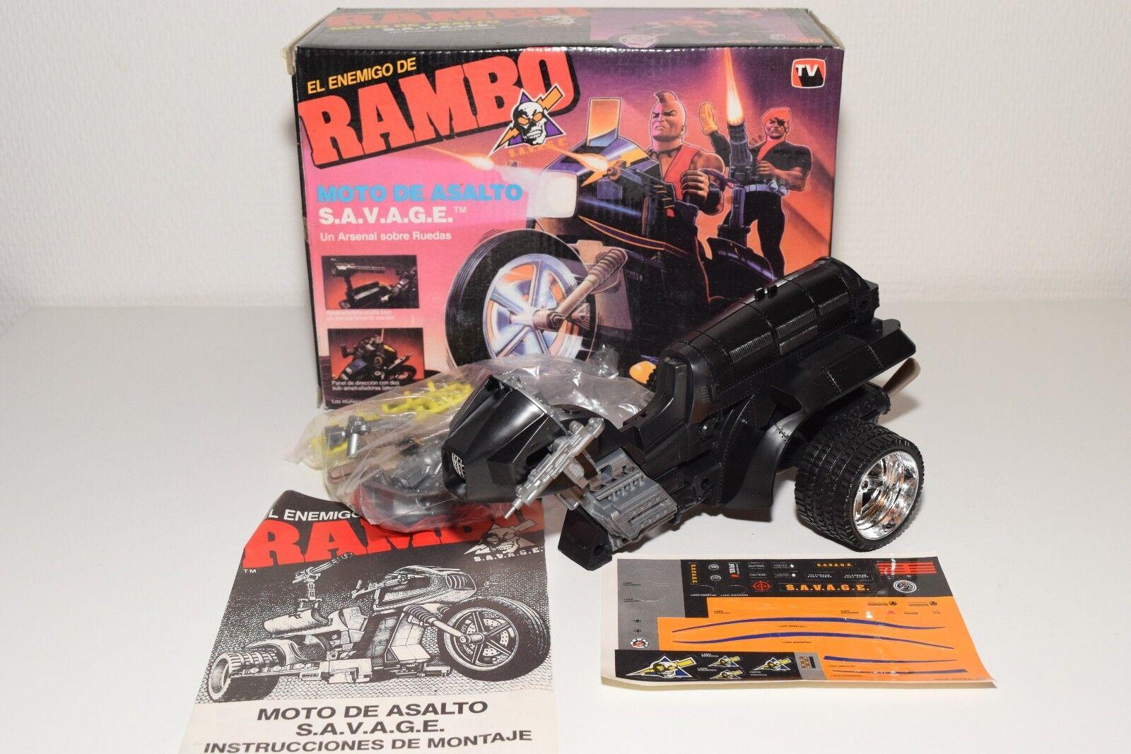 Jocsa RAMBO S.A. specialmente G.E. MOTO de Asalto MOTOR BIKE MINT BOXED RARE RARO