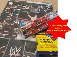 3 X Wwe Wwf Raw Usa Wrestling Wallpaper Free Wallpaper Paste Ebay