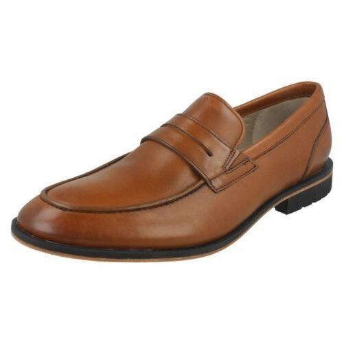 Hombre Clarks Elegante Zapatos sin Cierres ' Gatley Step '