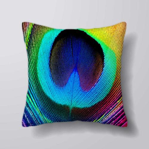 Plume de paon Imprimé housses de coussin oreiller cas home decor ou intérieure