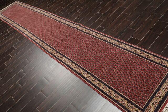2 7 X 14 1 Black Ziegler Oriental Rug Runner Hand Knotted Hallway Ebay