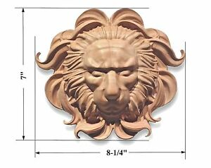 Wood carved Rosette with Lion Head