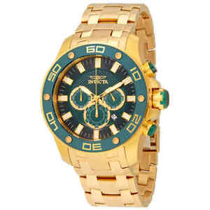 Invicta-Pro-Diver-Chronograph-Green-Dial-Men-039-s-Watch-26077