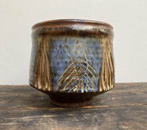 Sublime-Otto-amp-Vivika-Heino-Fish-Pottery-Bowl-Sgraffito-MCM-Mid-Century-Modern