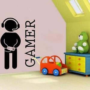 Gamer-Jungen-Vinyl-Wand-Aufkleber-Sticker-Xbox-Spiele-Ps4-Leben-Sessel