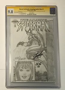 STAN-LEE-SIGNED-MARVEL-AUTHENTIX-AMAZING-SPIDER-MAN-1-CGC-SS-9-8-SKETCH-ROMITA