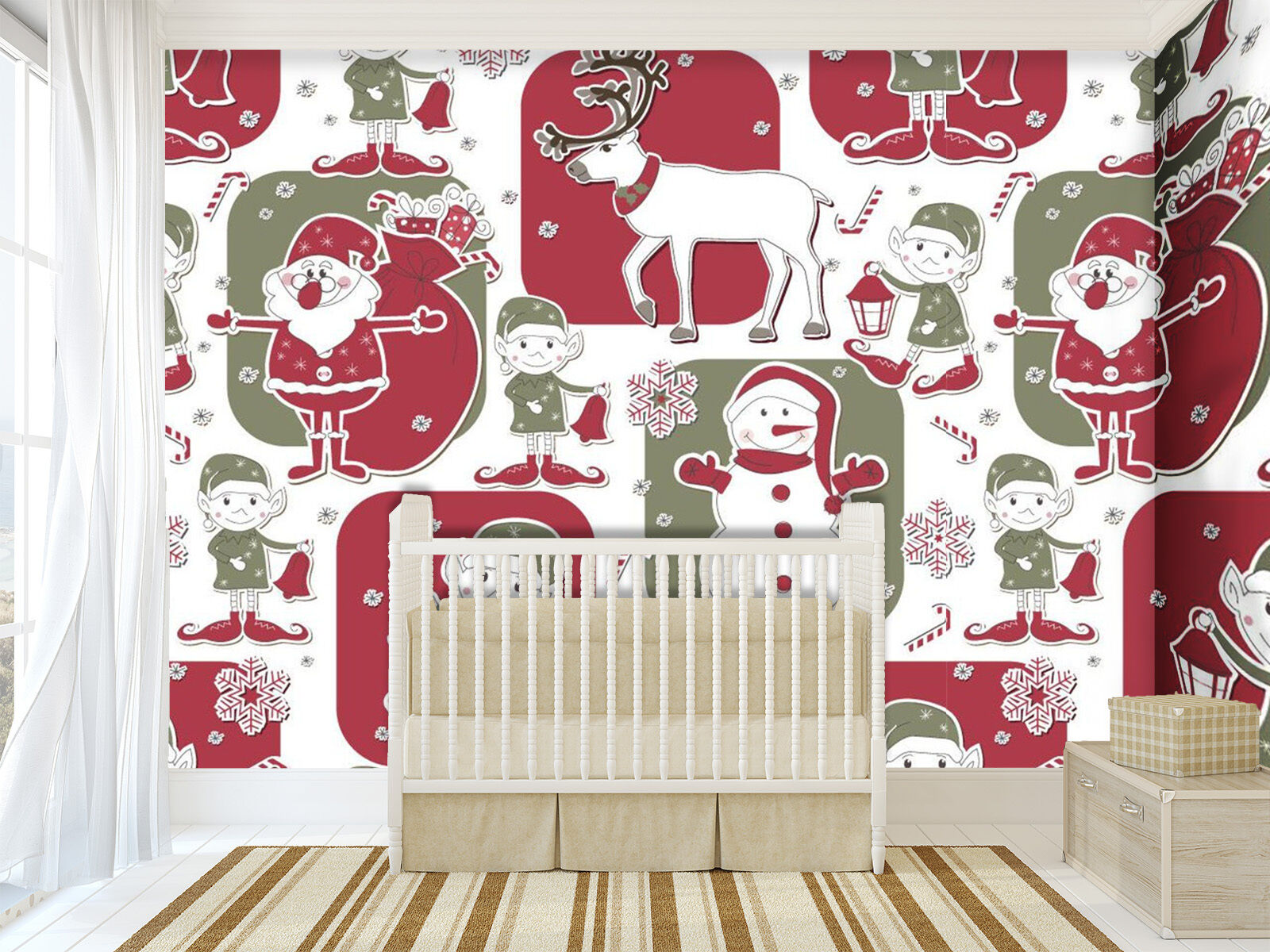 3D Christmas Patterns 1732 Paper Wall Print Wall Decal Wall Deco Indoor Murals
