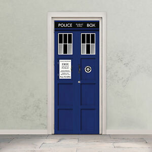 Image Is Loading TARDIS Door Decal Doctor Who Time Machine Police