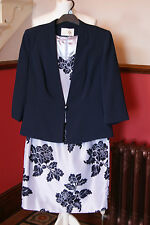 Jacques Vert Dress Jacket Shantung Blue Outfit Wedding Mother of Bride BNWT 20