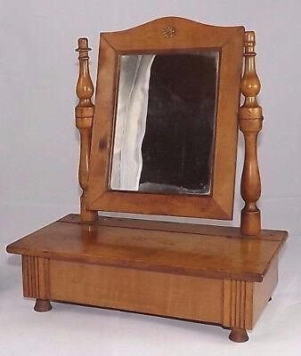 Aktiv Antik Holz Spiegel Looking Glass Kommode Französisch Schubladen Barock 1900