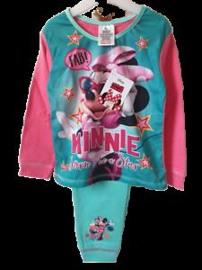 Girls Childrens Kids Disney Minnie Mouse Cotton Pyjamas Nightwear