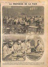 Clinique Dentaire de Paris Montage Dentiers Prothèse de la Face Dents  WWI 1916