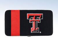 Ncaa Texas Tech Red Raiders Black Mesh Hard Shell Wallet