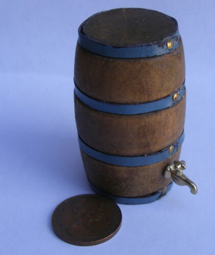 Échelle 1:12 Bois Vertical 2.6 CM Tonneau de Bière Avec Un Métal Robinet tumdee maison de poupées sa