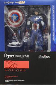 Nouveau figurine Captain America Avengers Figma No.226 Max Factory Marvel   New Captain America Avengers Figma No.226 Max Factory Marvel Figure