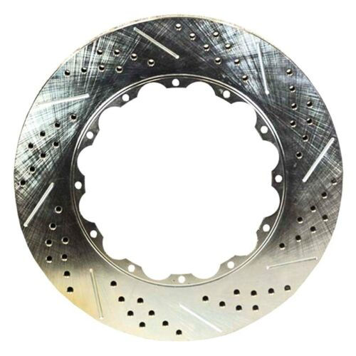 Brake Rotor Ring Replacement Drilled /& Slotted 2-Piece Front Driver Side Brake