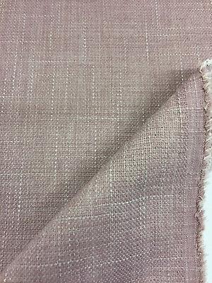 """By Marks /& Spencer. Pink//Lavender Linen Blend FR /""""Vida/"""" Upholstery Fabric"""