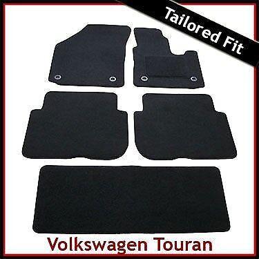 VW Touran Mk1 Pré-FACELIFT 2003-2010 Rond œillets Tapis sur mesure Noir