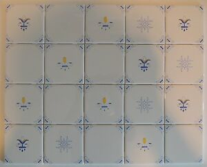 Image Is Loading Blue White And Yellow Delft Style Country French