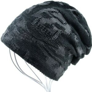 Riokk az I Believe Bigfoot Skull Cap Beanie Caps for Mens Blue