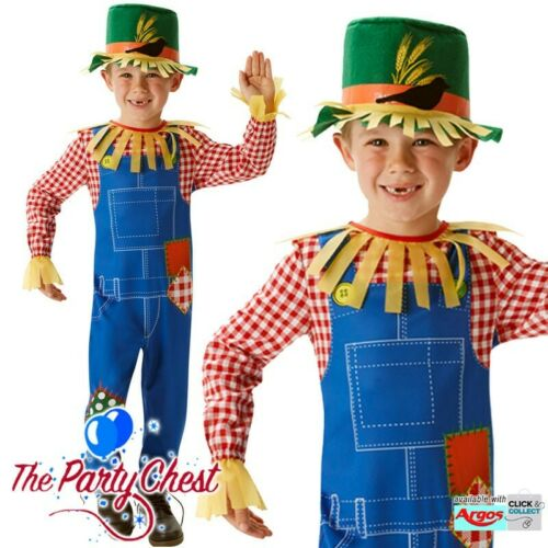 CHILD MR SCARECROW COSTUME Boys Wizard of Oz Book Week Day Fancy Dress Outfit
