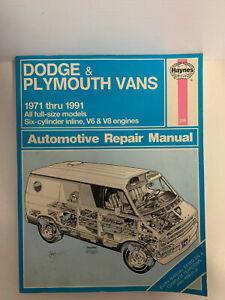 Haynes-Repair-Manual-Dodge-amp-Plymouth-Vans-1971-1991