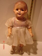 VINTAGE DOLL COMPOSITION 17 IN MOLDED HAIR AMERICAN CHARACTER TODDLER SALLY?