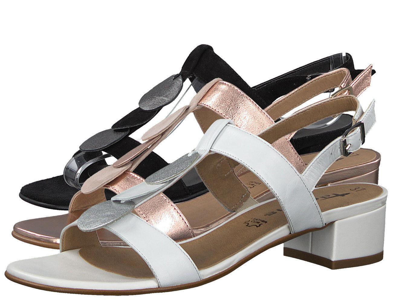 Tamaris T-Steg Sandalette 1-28236-30 Metallic Leder Sandalen