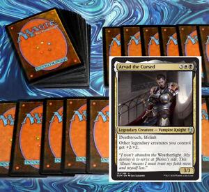 mtg-BLACK-WHITE-ARVAD-COMMANDER-EDH-DECK-Magic-the-Gathering-rare-cards-legends