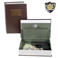 Large Diversion Book Safe With Key Lock Gun Hidden Cash Box Free Ship