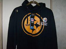 Pittsburgh Steelers Hoodie Sweatshirt  Full Zip NFL Team Apparel Mens Sm- M-Lg