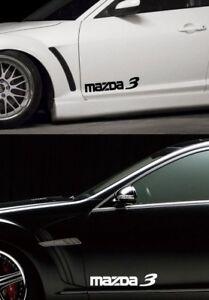 MAZDA-3-Mazdaspeed-Hatchback-Racing-Vinyl-Decal-sticker-emblem-logo-2pcs-Set