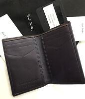 Paul Smith Wallet Multi Case Aubergine Calf & Lambskin Handcrafted In Spain