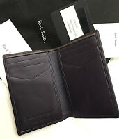 Paul Smith Wallet Multi Case Aubergine Calf & Lambskin Handcrafted In Spain