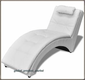 Image Is Loading Modern Design Chaise Longue Luxury White Faux Leather