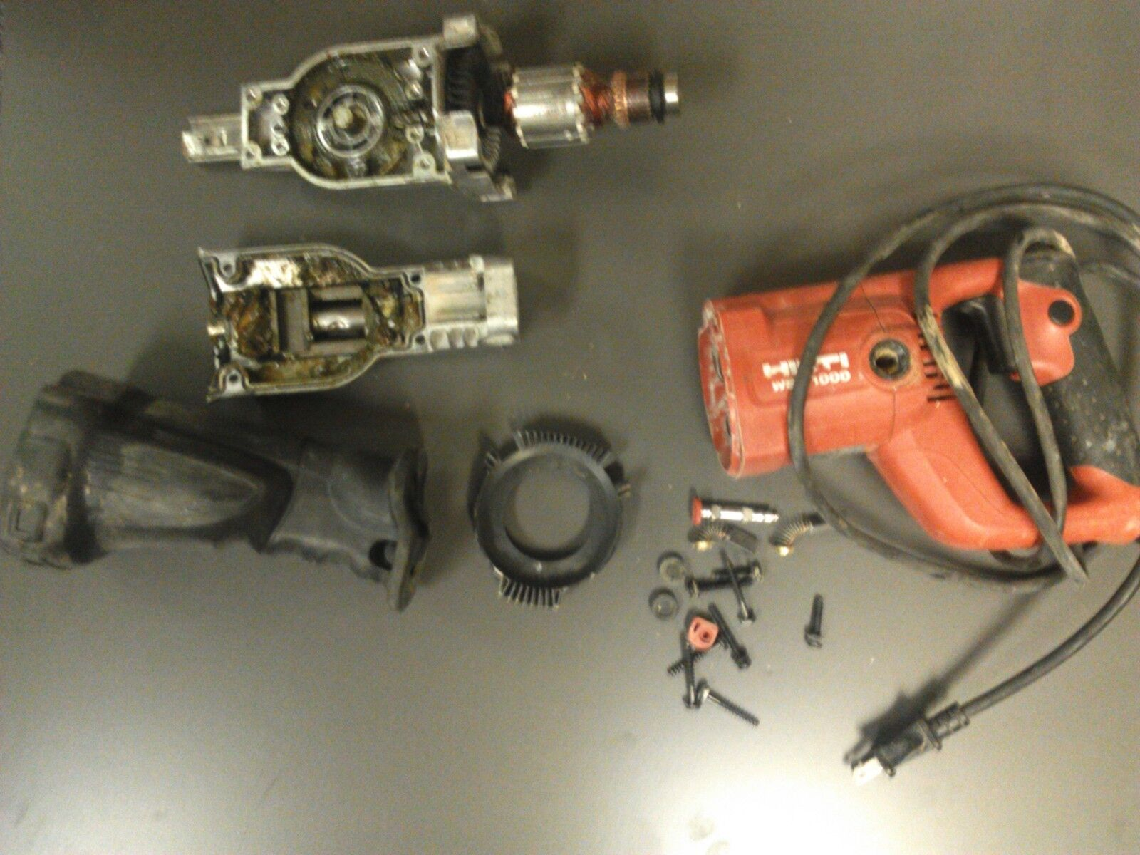 Used ARMATURE AND FAN FOR HILTI WSR1000 RECIP SAW -ENTIRE PICTURE NOT FOR SALE