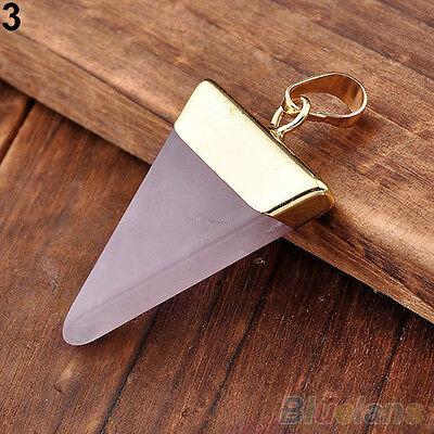 Crystal Quartz Pyramid Healing Point Reiki Chakra Gem Pendants For Necklace Gift