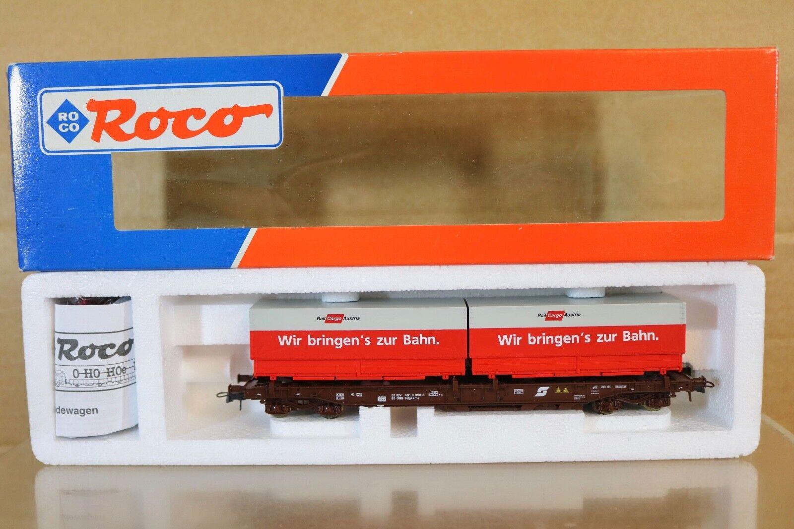 Roco 47028 Obb ÖBB Rail Cargo Autriche Unit Poche Conteneur Wagon 058-8 Nq