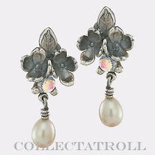 Authentic Trollbeads Silver Flowers Earrings Trollbead 56102