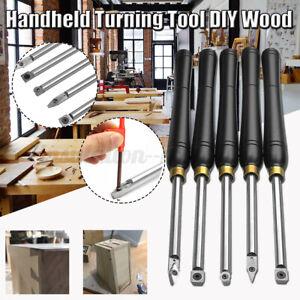 🔥 Carbide Tipped Wood Turning Chisel Diamond Round Square Insert Lathe Tool Set