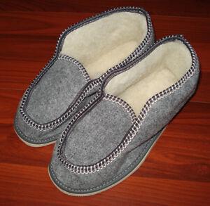 62e82ebbd17b7 Details about Ukrainian Slippers Felt merino Boots Sheep Wool Womens/Mens  Size 39/8.5/6 Gr