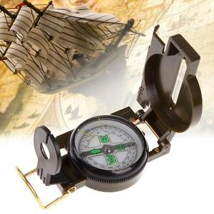 Pocket Outdoor Military Army Hiking Camping Lens Survival Lensatic Olive Compass