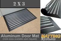 Aluminum Entrance Door Scraper Mat 3' X 2' Doormat Black Carpet Non-slip Backing