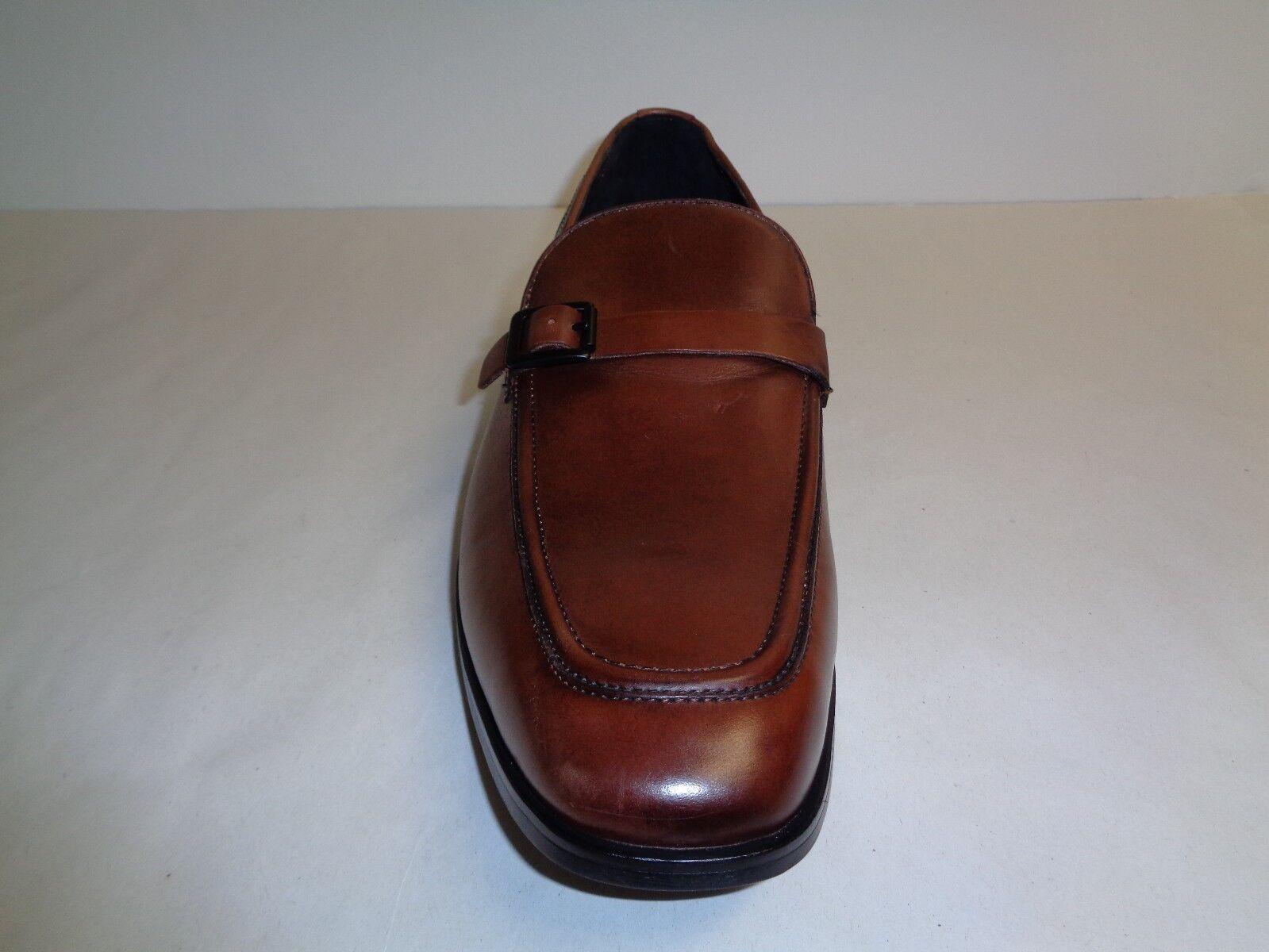 67c7186eb ... Kenneth Cole Size 8 M CUT LOOSE Cognac Cognac Cognac Brown Leather  Loafers New Mens Shoes ...